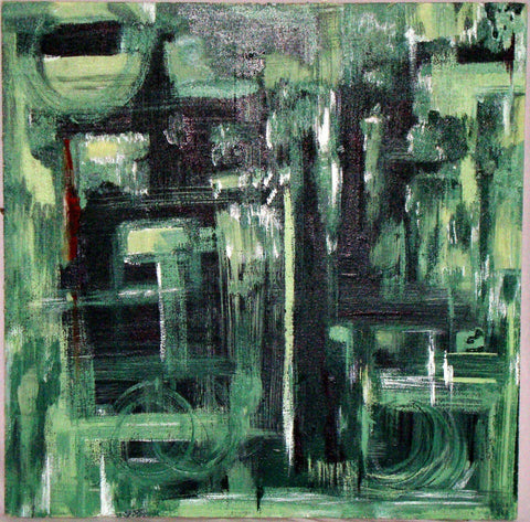 Terra Verde - Original Abstract Painting by Alaina