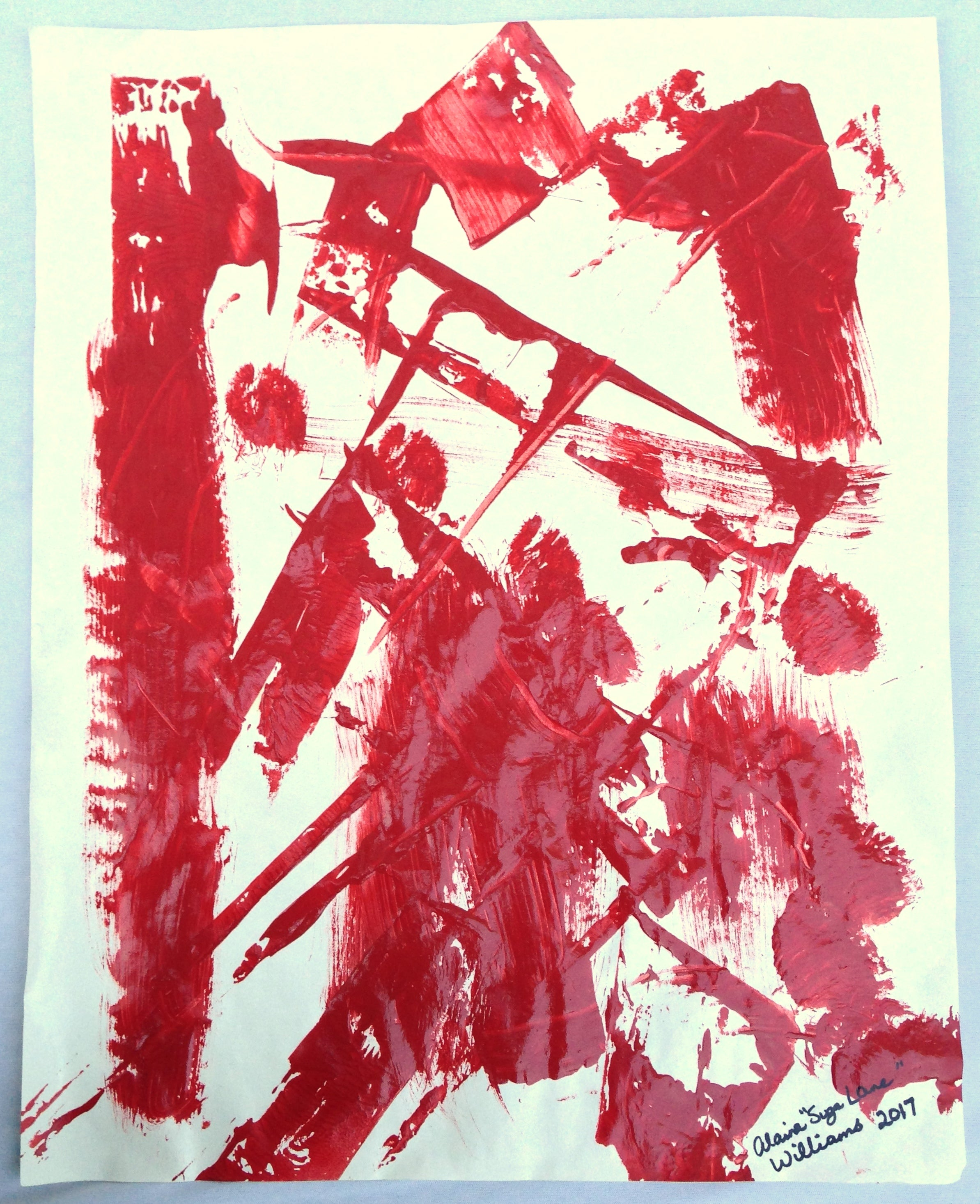 """Fight"" Painting on Paper From Series ""Fragile Existence"""