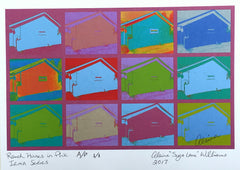Ranch Houses in Berry Artist's Proof 1/1 From Irma Series 2017