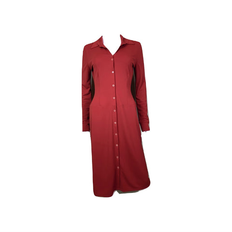 Kenneth Cole Red Button Down Shirt Dress