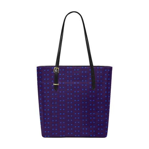 Polka Stripe Classic Leather Tote
