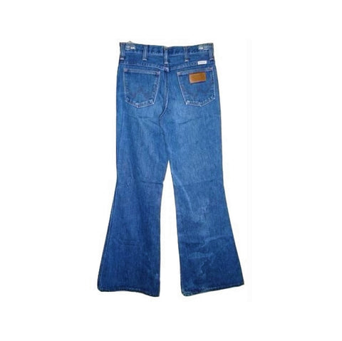 Vintage Wrangler Blue Denim Leather On Pocket Jeans