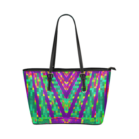 Electro Tribal Jane Leather Tote Bag /Small