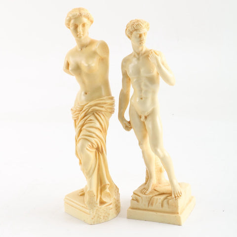 Neoclassical Hollywood Regency Roman Italian Figural Statuettes