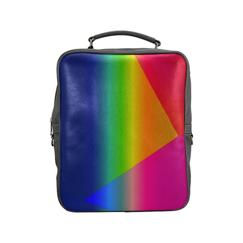 Rainbow Leather Carry-On Backpack Bag