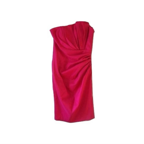 Vintage Fuschia Pink Asymetrical Cocktail Prom Dress Xs