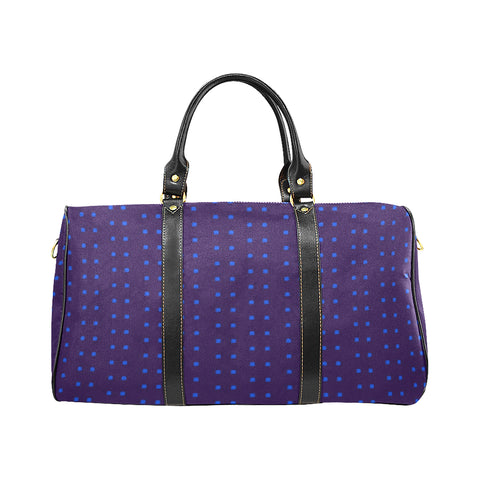 Polka Stripe Carryall Duffle Bag