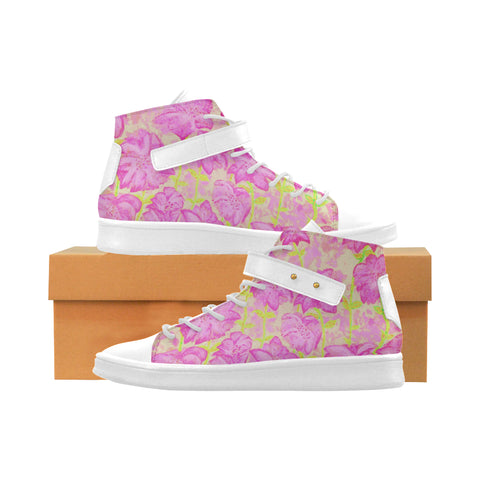 Fireworks Leather High Top Shoes [Pink]