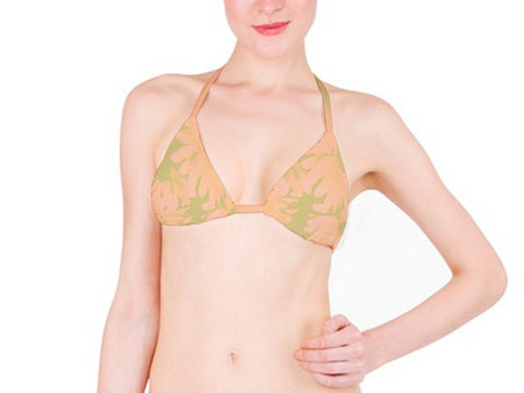 Suga Lane Floral Delights Peach Nude Tan Bikini top