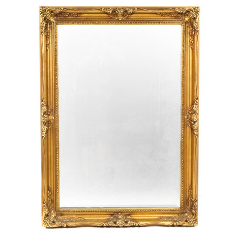 French Empire Hollywood Regency Gold Gilt Framed Wall Mirror