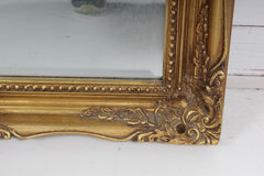 SOLD - French Empire Hollywood Regency Gold Gilt Framed Wall Mirror
