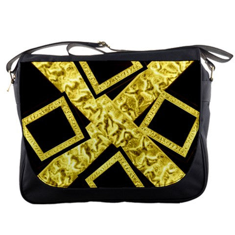Suga Lane Black Gold Logo Messenger Bag