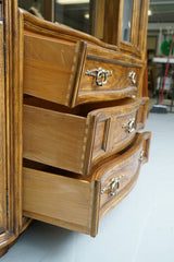 Illuminated Neoclassical Wall Unit Storage Cabinet by Drexel-Heritage