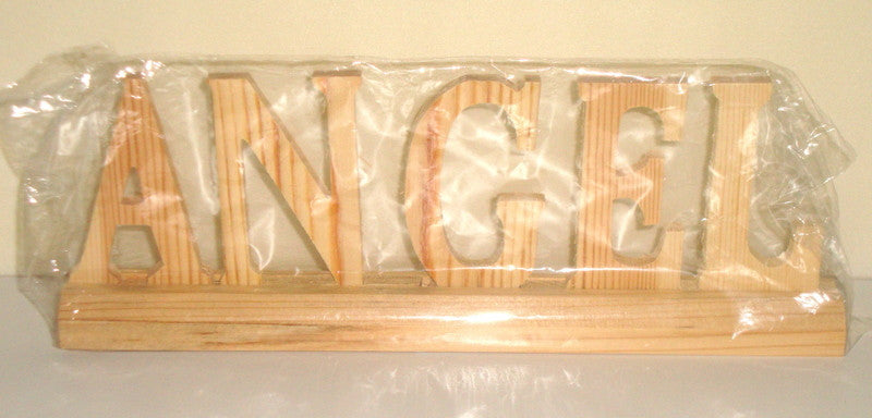 "CARVED WOOD ""ANGEL"" LETTERS"