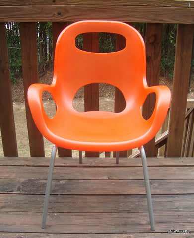 UMBRA ORANGE SILVER vintage style herman miller ERGONOMIC CHAIR