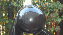 [SOLD] LARGE MID-CENTURY MODERNIST BLACK SCULPTURE ORGANIC FORM LAMP/ 1950S-60S