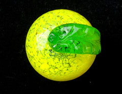 VINTAGE MURANO Segusso ITALIAN GLASS LEMON FRUIT