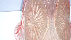[SOLD] Hollywood Regency Deco Glam Pink Chandelier Glass