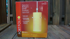 [SOLD] PAIR OF 2 PORTFOLIO INTERIOR HALOGEN TRACK PENDANT AMBER FROSTED GLASS HM-2539