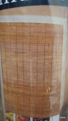 "DESIGN VIEW NATURAL BAMBOO ROMAN SHADE FRUITWOOD WINDOW SCREEN 34"" X 72"" HM-2540"