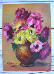 ARTIST LOUISE JOHNSON COLLECTION ORIGINAL PAINTING FLORAL STILL LIFE /PIECE [B]