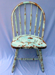 Vintage Cottage Distressed Farmhouse Windsor Chairs