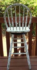 Country Cottage Hand Painted Distressed Bar Stool Barstool Dining Chair