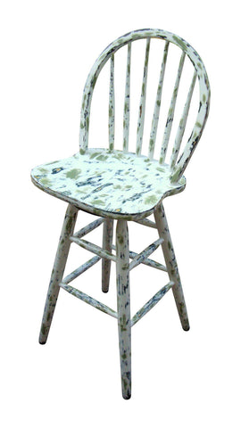 Country Cottage Hand Painted Distressed Bar Stools