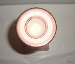 ONE PEACH BLOSSOM FLORAL ASIAN HAND PAINTED CANDLE HOLDER CANDLESTICK