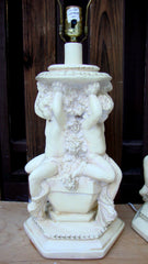 [SOLD] Vintage Italian Art Deco Angel Cherub Putti Lamps