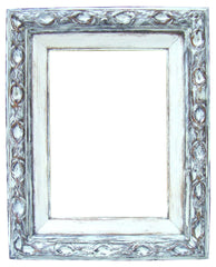 [sold] Antique French Rustic  Bronze Gilt Hand-Painted Wood Frame