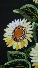 Vintage Sunflowers Original Needlepoint Art Boho CHic Bohemian Cottage Farmhouse Americana Country