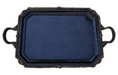 [sold] Antique French Victorian Bronze Copper Tray