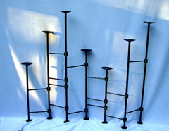 [SOLD] Vintage Metal Wrought Iron Candelabra deco goth candle holder