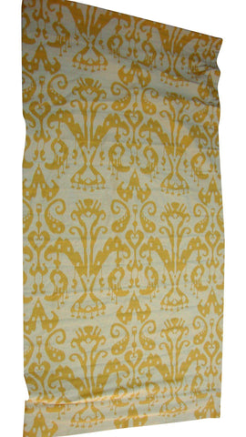 [SOLD] Custom Yellow Gold Cream Ikat Window Shade - 4