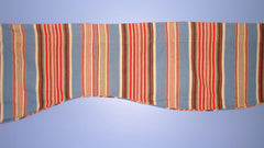 [SOLD] Vintage Blue White Scandinavian Striped Large Window Valance