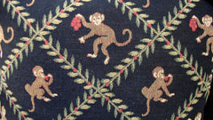 [SOLD] Designer Monkey Trellis Pillows