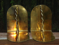 Mid-Century Hollywood Regency Brass Bookends