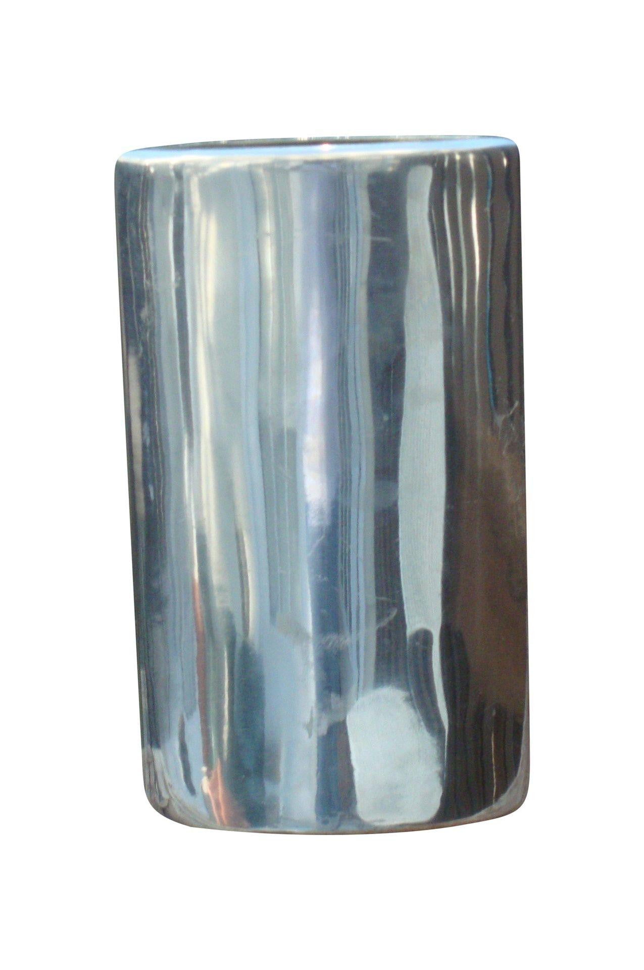 [SOLD] Spal Portugal Modern Stainless Steel Chrome Vase