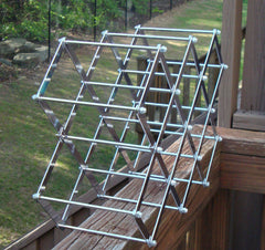 [Sold] Stainless Steel Folding Accordion Wine Rack