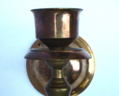 [SOLD] Victorian Gothic Regency Deco Brass Candle Sconces