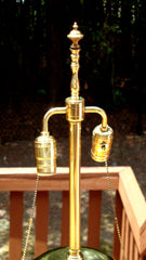 Impressive Tall Hollywood Regency Deco Brass Lamp