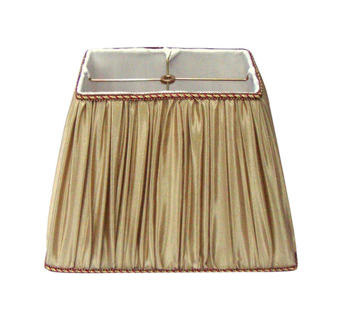[sold] Modern Glam Taupe Beige Pleated Silk Lampshade