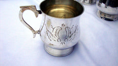 [SOLD] Gothic Deco Silver Demitasse Cups