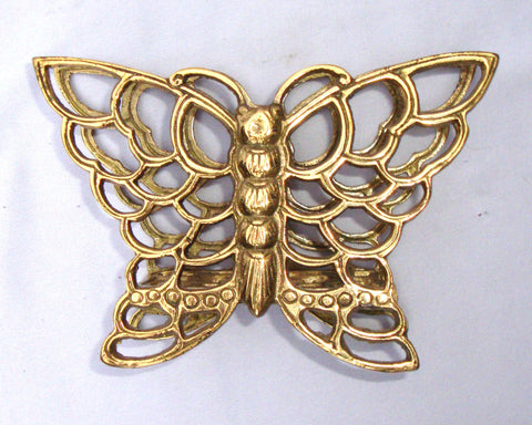 Vintage Brass Butterfly Napkin Holder Sculpture