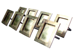 [Sold] Silver Plated Place Holders Napkin Rings - 8