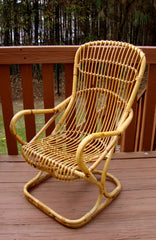 [SOLD] Franco Albini Mid-Century Wicker Bentwood Chair