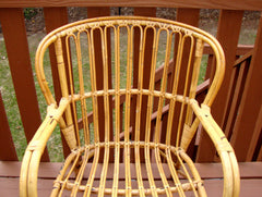 [SOLD] Franco Albini Mid-Century Rattan Bentwood Chair