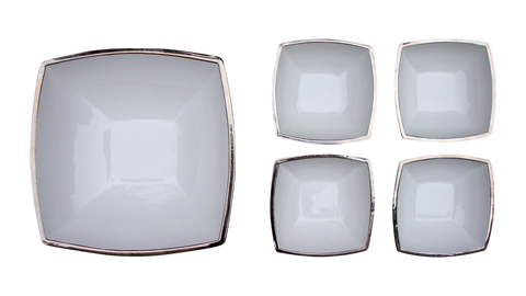 [SOLD] Italian Silver Porcelain Bowls by I Patrizi - 5