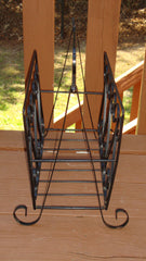 Deco Hollywood Regency Wrought Iron Magazine Rack